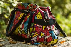 Znakomita żeńska jaskrawa kolor torba dla kampanii obrazy stock