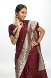 znakomita indyjska mówi kobieta Zdjęcia Stock