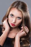 Znakomity portret dziewczyna Fotografia Royalty Free