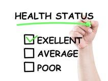 Znakomity zdrowie status zdjęcie royalty free