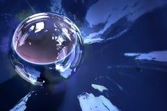 znaleźć odzwierciedlenie globus kuli Zdjęcia Royalty Free
