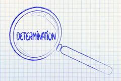 Znalezienie determinacja, powiększa - szklany projekt zdjęcia stock