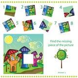 Znaleziska chybiania kawałek - Intryguje grę dla dzieci Zdjęcia Royalty Free