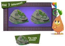 Znaleziska 9 różnic jaszczurka Obraz Stock