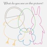 Znalezisko chujący protestuje na obrazku, Easter temat, miszmaszu konturu set, zabawy edukacji gra dla dzieciaków, preschool akty ilustracja wektor