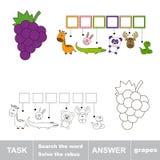 Znalezisko chujący słowo winogrono royalty ilustracja