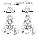Znalezisko dziesięć kolorystyk stron i różnicy Śmieszny kreskówka lampart P Zdjęcie Royalty Free