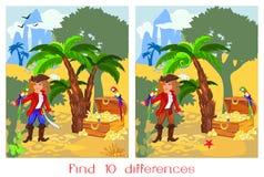 Znalezisko dziesięć różnic Fotografia Stock