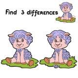 Znalezisko różnicy (cakle) ilustracja wektor