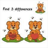 Znalezisko różnicy (niedźwiedź) ilustracji