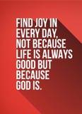 Znalezisko radość w Każdy dzień wycena plakacie Zdjęcie Stock