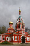 Znamenskaya catedral. Krasnogorsk, Moscow region. Church of Holy Sign of Most Holy Theotokos (Znamenskaya church). Krasnogorsk, Moscow region, Russia Royalty Free Stock Image