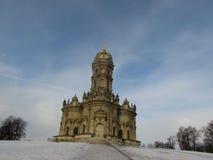 Znamenskaya kyrka i Dubrovitsy royaltyfri foto