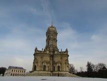 Znamenskaya kyrka i Dubrovitsy fotografering för bildbyråer