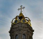 Znamenskayakerk in Dubrovitsy royalty-vrije stock afbeeldingen