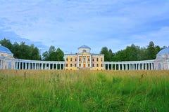 Znamenskoye-Rayok庄园(18世纪)在Torzhok区 图库摄影