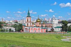Znamensky Cathedral in Barnaul, Russia Stock Photo