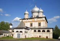 Znamensky Cathedral one sunny july day. Veliky Novgorod Stock Images