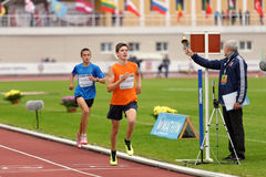 Znamensky Memorial 2014. Zhukovsky, Moscow region, Russia - June 27, 2014: Men compete in 2000 meters during Znamensky Memorial. The competitions is one of the stock image