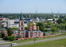 Znamensky nunnery of the Barnaul diocese of the Russian Orthodox Church. Royalty Free Stock Image