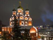 Znamenskykathedraal - de vroegere belangrijkste tempel van het Znamensky-Klooster in Moskou, werkt nu als parochiekerk royalty-vrije stock foto