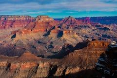 znany na całym świecie Uroczystego jaru park narodowy, Arizona Obrazy Royalty Free