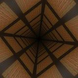 Zniekształcający drewniany tło Zdjęcia Stock
