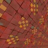 Zniekształcający kolorowi warcaby Zdjęcia Stock