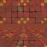 Zniekształcający kolorowi warcaby Obrazy Stock