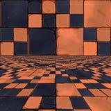 Zniekształcający pomarańczowi warcaby Obraz Stock