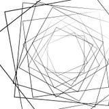 Zniekształcający przypadkowy promieniuje linia monochromu abstrakcjonistyczny wzór royalty ilustracja