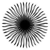 Zniekształcający, szpotawy abstrakcjonistyczny promieniowy, promieniujący element Abstrakt ilustracji