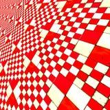 Zniekształcający czerwoni warcaby Zdjęcie Royalty Free
