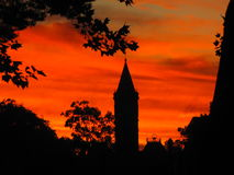 Zniewalający mroczny wschód słońca Zdjęcie Stock