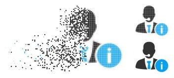 Znikać kropki Halftone centrum pomocy humanitarnej kierownika ikonę ilustracji