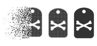 Znikać kropki Halftone etykietki Śmiertelną ikonę ilustracji