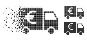 Znikać kropki Halftone Euro Samochodową ikonę ilustracja wektor