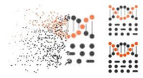 Znikać kropki Halftone Genetycznego kodu ikonę ilustracji