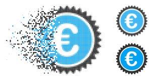 Znikać kropki Halftone ilości znaczka Europejską ikonę ilustracja wektor