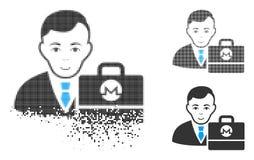 Znikać kropki Halftone Monero Accounter ikonę z twarzą ilustracji