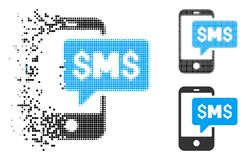 Znikać kropki Halftone telefonu SMS ikonę ilustracji