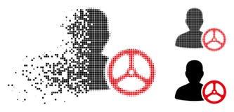Znikać Kropkowaną Halftone kierowcy osoby ikonę ilustracja wektor