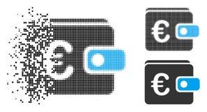 Znikać Kropkowanego Halftone kiesy Euro ikonę royalty ilustracja