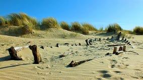 Znikać w Connemara plażę zdjęcie stock