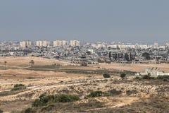 Zniszczeni budynki w Gaza Zdjęcie Stock