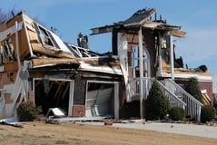 zniszczenie domu Zdjęcia Royalty Free