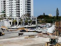 Zniszczenie Floryda uniwersyteta Międzynarodowy most Obrazy Royalty Free