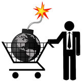 zniszczenie globalny zdjęcia stock