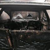 Zniszczenie ogień Zdjęcia Royalty Free