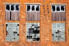 zniszczona fasadę zbudować obrazy stock